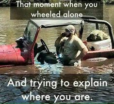 LoL, Hopefully your ph has a locator and you can text coordinates :) Jeep Jokes, Jeep Humor, Car Jokes, Car Humor, Jeep Funny, Jeep Wrangler Quotes, Lol, Stupid Funny Memes, Hilarious