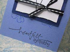 Handmade Sympathy Card-detail