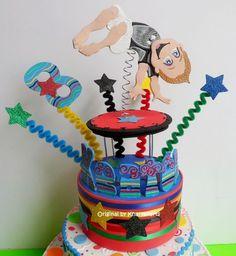 Gymnastic Birthday cake topper for boys children gym party | kharygoarts - Children's on ArtFire