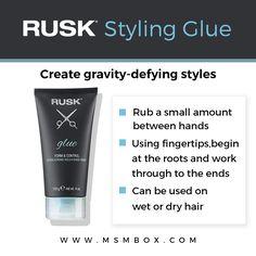 Rusk Styling Glue (4 oz) - NEW Creates gravity-defying styles