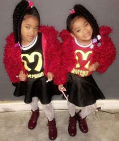 Black Twins, Black Baby Girls, Twin Girls, Black Babies, Cute Girl Outfits, Dance Outfits, Beautiful Children, Beautiful Babies, Sunshine In My Pocket