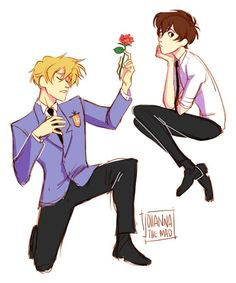 Tamaki just confessing his love to Haruhi, even tho he makes it sooooo obvious