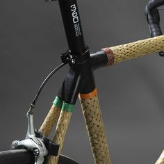 lance rake's HERObike fitted with woven bamboo tubes