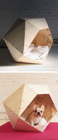 DIY Geometric pet bed
