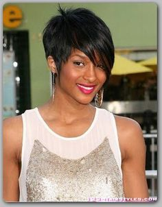 loving this pixie with long bang