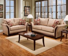 6000 traditional rolled arm sofa with scrolled wood trim for Affordable furniture and appliances