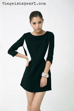 This mod dress will make you slim.  Good for pear body shape.