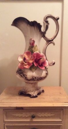 Capo-di-Monte Floral Large 20 Footed Ewer by JacobandCharlies