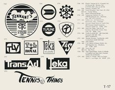 T-17  Collection of vintage logos from a mid-70's edition of the book World of Logotypes.