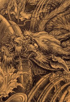 chevvy:  changlong Japanese Dragon, Chinese Dragon, Mascara Oni, Dragon Occidental, Dragon Classes, Types Of Dragons, Dragon Sketch, Full Back Tattoos, Fantasy Beasts