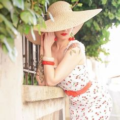 There is a shade of red for every woman - French vintage style maven looks stunning wearing our Blake Dress 🍒& accessorises ✨ . Stop Staring Dresses, Stella Rose, French Vintage, Vintage Style, Shades Of Red, Looking Stunning, Audrey Hepburn, Every Woman, Panama Hat