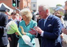 Prince Charles Photos Photos - Prince Charles, Prince of Wales and Camilla, Duchess of Cornwall listen to a band  in Dromore Village during a visit to Northern Ireland on May 10, 2017 in Dromore, Northern Ireland. - Prince of Wales and the Duchess of Cornwall Visit Northern Ireland - Day Two  Awesome! We're glad you like it! Let us know if you have questions at all, we're happy to help :) Here's my store ==> https://etsytshirt.com/ireland  #fantasticireland