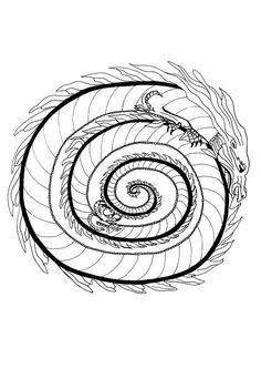 Fire dragon mandala - DRAGON mandalas