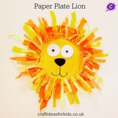 Easy Thanksgiving Crafts for Kids - Glück ist hausgemacht! Easy Thanksgiving Crafts for Kids - Glück ist hausgemacht! Paper Plate Crafts For Kids, Animal Crafts For Kids, Toddler Crafts, Safari Crafts, Jungle Crafts, Daniel And The Lions, Paper Plate Animals, Lion Craft, Thanksgiving Crafts For Kids