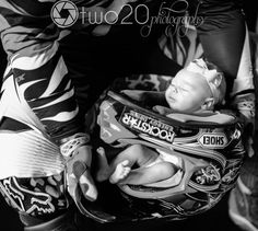Newborn dirtbike photo - BabyGirl - Remington Rae