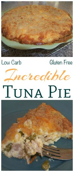 A savory low carb tuna pie recipe that made with cheese, green beans, and low carb flour. Creamy and filling, this tuna fish pie makes a great main dish. Use almond flour for gluten free. (Cheese Making Low Carb) Banting Recipes, Low Carb Recipes, Cooking Recipes, Healthy Recipes, Carbquik Recipes, Diet Recipes, Diabetic Recipes, Healthy Meals, Cake Recipes