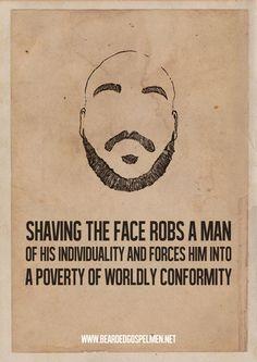 Minimalist Posters Championing Beards | 10 | Kontraband