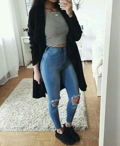 Cute outfits - Summer Outfits - Fall Outfits - Outfits for teen - Fashion summer spring outfits idea Teenager Outfits, Outfits For Teens, Trendy Outfits, Look Fashion, Teen Fashion, Fashion Outfits, Womens Fashion, Fashion Sale, Fashion Clothes