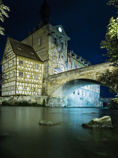 Bamberg by night, Germany