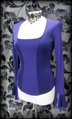 Romantic Goth Purple Velvet Panel Corset Bodice Style Top 10 Witchy Medieval Alt | THE WILTED ROSE GARDEN