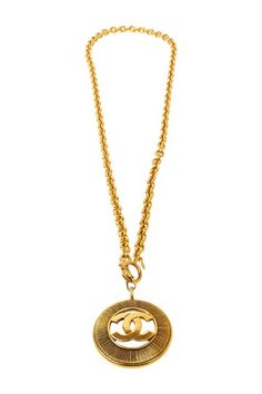 Vintage Chanel Burst CC Cutout Necklace by What Goes Around Comes Around on @HauteLook