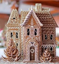 27 Beautiful Christmas Gingerbread House Ideas 26 - Weihnachten - Healt and fitness Christmas Desserts, Christmas Treats, Christmas Baking, All Things Christmas, Winter Christmas, Christmas Cookies, Christmas Holidays, Christmas Decorations, Xmas