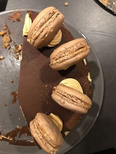 Glutenfree lactose free and cowmilk free mocca cake with gluten lactose cowmilk free macarons