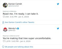 Funny Twitter Posts, Twitter Quotes, Wendy Tweets, Wendy Roasts, Wendys Twitter, Wendy's Social Media, Funny Insults And Comebacks, Funny Vines, Sarcastic Quotes