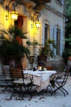 Outdoor Dining - Provence via Jean Gray ᘡղbᘠ Outdoor Rooms, Outdoor Dining, Patio Dining, Dining Set, Dining Table, Belle France, France 3, Provence France, Provence Style