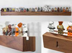 Image of Long Chroble shelf for 25 minifigs