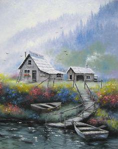 Alaska WildernessOriginal Oil Painting Vickie by VickieWadeFineArt, $125.00