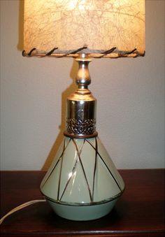 Aqua Boudoir Lamp With Vintage Lamp Shade by Buddhagal on Etsy, $54.00