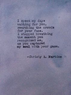 Hand Typed Poems & Poetry Prints by Christy by ChristyAnnMartine
