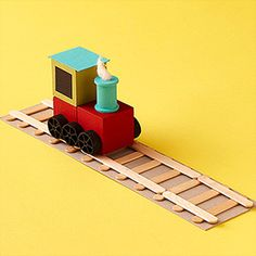 Wood crafts for kids...My son is going to love this!