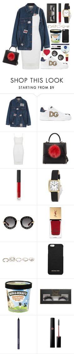 """""""dress+sneaker"""" by anabelisstyle ❤ liked on Polyvore featuring Chicnova Fashion, Dolce&Gabbana, Topshop, Les Petits Joueurs, NARS Cosmetics, Charles Hubert, Gucci, Yves Saint Laurent, GUESS and MICHAEL Michael Kors"""