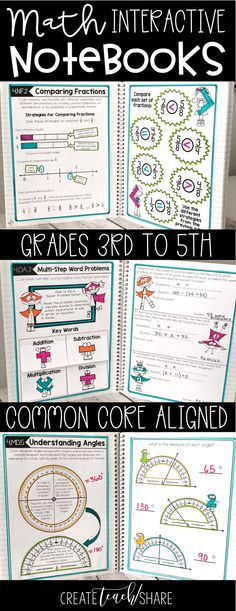 Looking for a hands-on approach to teaching math common core standards. My students have had great success with interactive notebooks. They love using their journals to refer back to for different math concepts and skills. Perfect for upper elementary grades. Available for grades 3rd, 4th, and 5th.