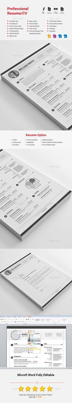 Resume/CV Cv template, Ai illustrator and Resume