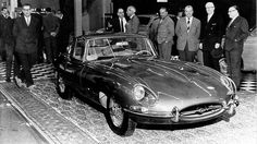This has and always will be my favorite car... this is the Jaguar E-Type, 1961  at the Geneva Motor Show.