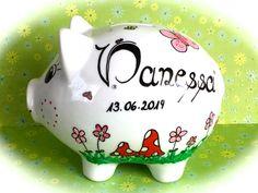 Sparschwein XL Nr. 160 Geburt,Sparschwein mit Name,personalisiertes Sparschwein,Sparschwein,Geldgeschenk,Spardose mit Name,Spardose,Geschenk Piggy Bank, Etsy, Deco, Wedding, Money Box, Money Bank, Savings Jar