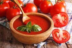 domaci kecup recept Ketchup, Nachos, Serving Bowls, Good Food, Homemade, Menu, Vegetables, Tableware, House
