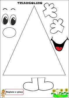 A Scuola con Poldo: Triangolino Shape Activities Kindergarten, In Kindergarten, Learning Activities, Preschool Activities, School Classroom, Classroom Decor, Math For Kids, Crafts For Kids, Shapes Worksheets