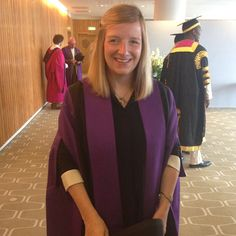 Sarah Burton of Alexander McQueen gets ready to receive her honorary fellowship from UAL