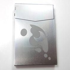 MLP Luna Silver Slim Cigarette Business Card Pocket Case BUS-0417