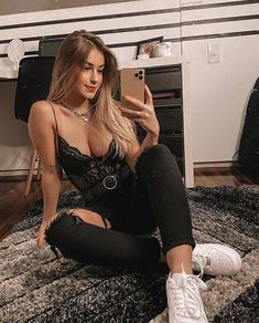 Teen Fashion Outfits, Edgy Outfits, Grunge Outfits, Night Outfits, Classy Outfits, Girl Outfits, Cute Comfy Outfits, Cute Summer Outfits, Black Girl Fashion