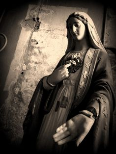 love this photo, would look awesome in an old frame on my collage wall <3    ~Mary Photograph  religious statue catholic black by kristaglavich, $25.00