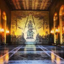 Scandinavian Spirituality - Museum - the Golden Hall in Stockholm