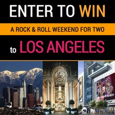 Win a Weekend for Two to Los Angeles *Single Entry* Exp. The Places Youll Go, Places To Visit, Grammy Museum, Enter Sweepstakes, Win A Trip, March 3rd, Enter To Win, Good Music, Rock And Roll