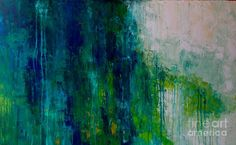Abstract Water Painting - Riptide by Julie Janney