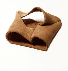Unisex brown leather short gloves