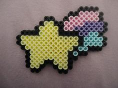 Mini Pastel Shooting Star by PerlerHime - Kandi Photos on Kandi Patterns